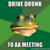 Way to go! Drunk man crashes AA meeting — with beer