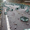 What a mess! 55,000 lb of beer splatter on Florida highway