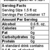 Why doesn't alcohol have nutrition labels?