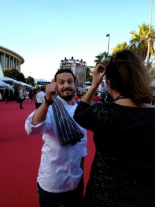 That's Fabio Viviani on the miles of red carpet
