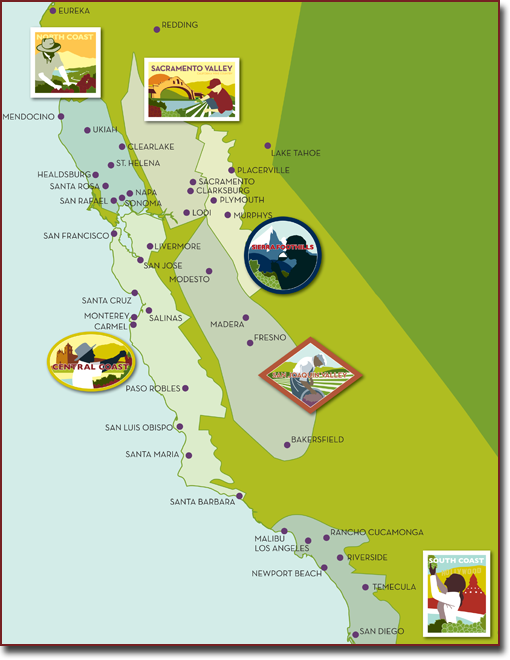 Four New AVAs Approved In California Booze News - Map of all us avas