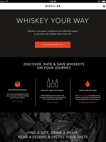 Ultimate Whiskey Companion, Distiller, Launches Mobile App