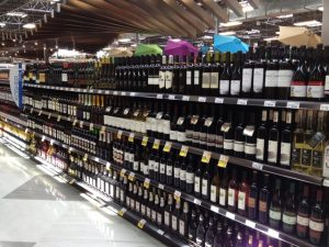 Only part of the kosher wine section