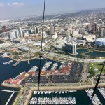 Long Beach harbor, marina & downtown from the blimp